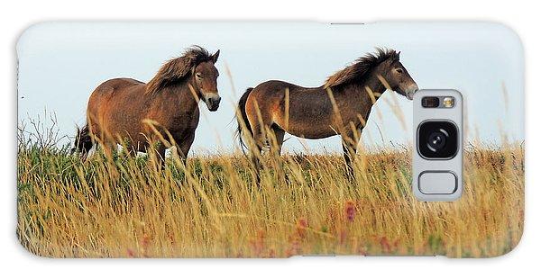 Wild Ponies On Exmoor Galaxy Case