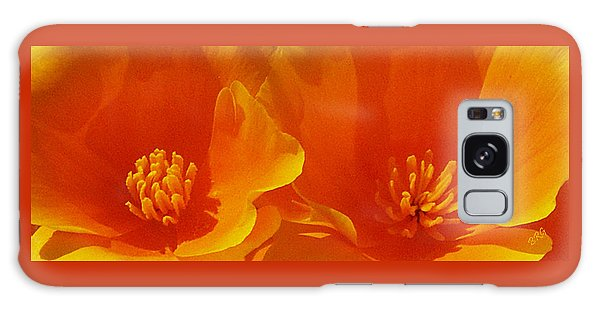 Wild Poppies Galaxy Case by Ben and Raisa Gertsberg
