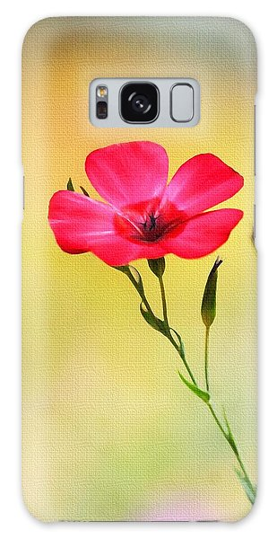Wild Red Flower Galaxy Case by Tom Janca