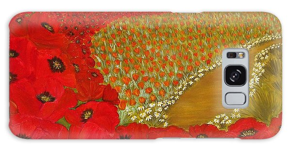 Wild Red Poppies Galaxy Case