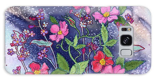 Wild Roses Galaxy Case by Teresa Ascone