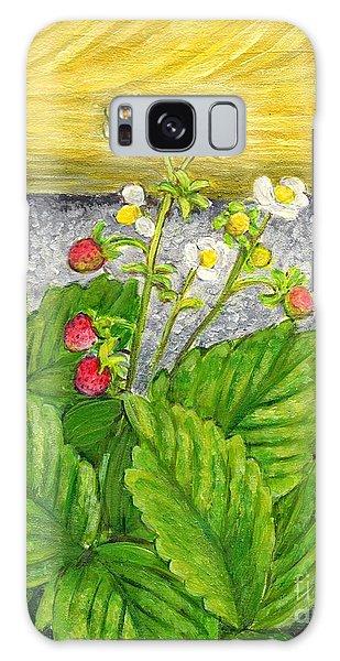 Wild Strawberries In Summer Galaxy Case by Jingfen Hwu