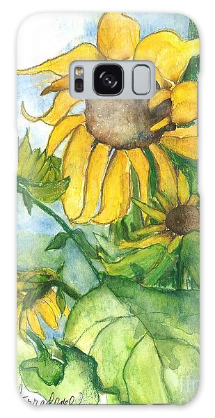 Wild Sunflowers Galaxy Case