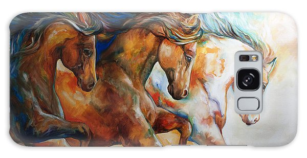 Equine Galaxy Case - Wild Trio Run by Marcia Baldwin