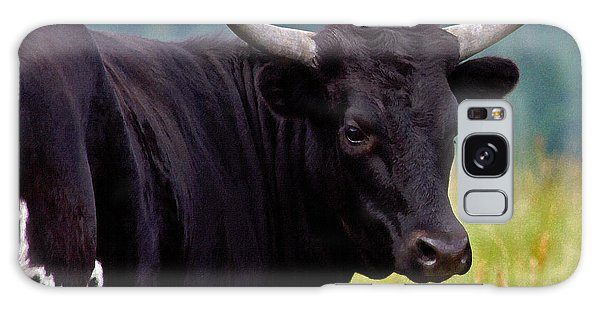 Wild Type Colored Heifer Longhorn Cow Galaxy Case by Karon Melillo DeVega