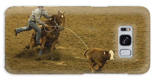 Prca Galaxy Case - Wild West Calf Roping by Janice Pariza
