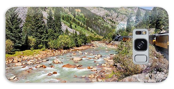 Wild West Train Ride Along The Animas River From Durango To Silverton Colorado Galaxy Case by Karen Stephenson