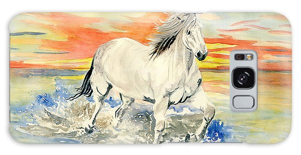 Wild White Horse Galaxy Case
