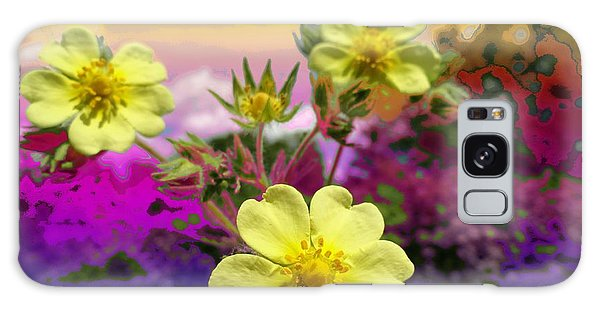 Wildflower Abstract Galaxy Case by Mike Breau