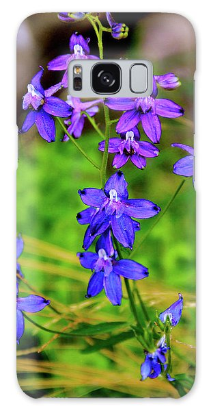 Wildflower Larkspur Galaxy Case