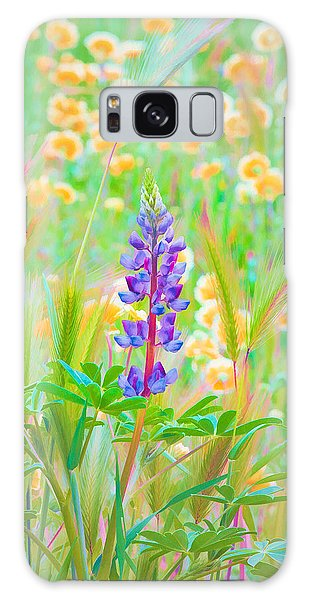 Galaxy Case featuring the photograph Wildflower Meadow - Spring In Central California by Ram Vasudev
