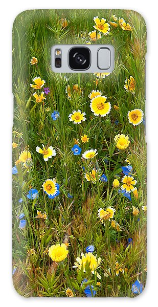 Galaxy Case featuring the photograph Wildflower Salad - Spring In Central California by Ram Vasudev