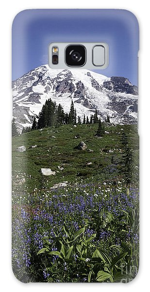 Wildflower Season At Mt Rainier Galaxy Case by Sharon Seaward