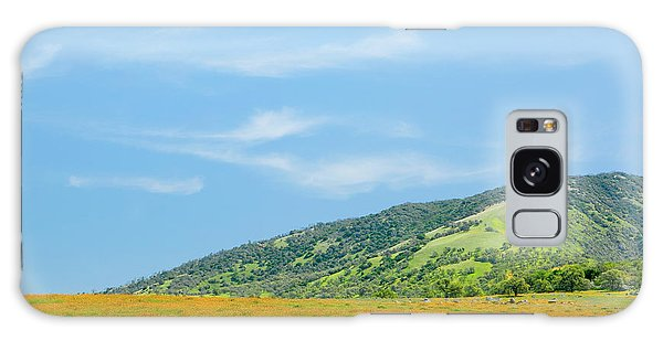 Afternoon Delight - Wildflowers And Cirrus Clouds - Spring In Central California Galaxy Case