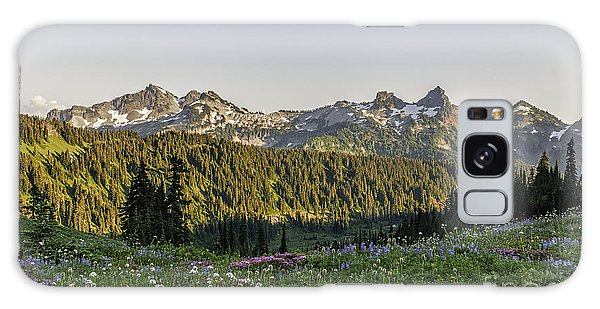 Wildflowers And The Tatoosh Range Galaxy Case by Sharon Seaward