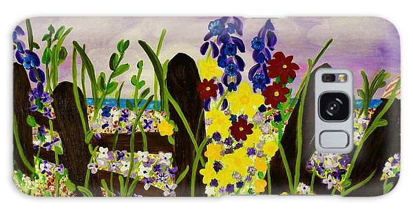 Wildflowers By The Sea Galaxy Case by Celeste Manning