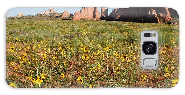 Wildflowers Galaxy Case by Jon Emery
