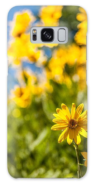 Teton Galaxy Case - Wildflowers Standing Out Abstract by Chad Dutson