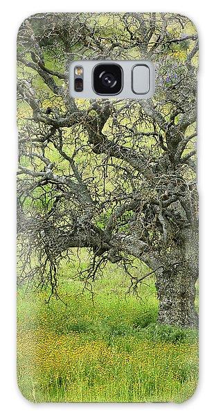 Wildflowers Under Oak Tree - Spring In Central California Galaxy Case