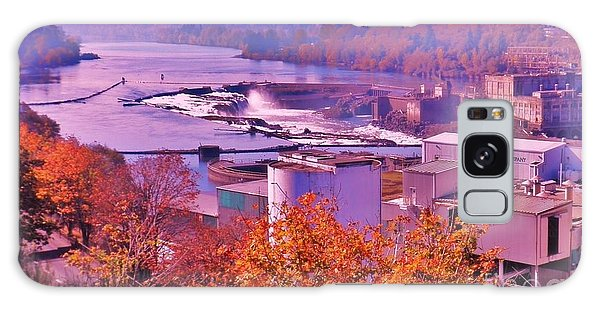 Willamette Falls Oregon Galaxy Case by Suzanne McKay