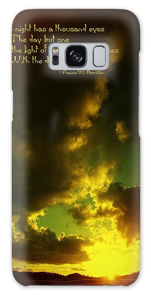 Willamette Valley Sunset And Quote Galaxy Case by Mick Anderson
