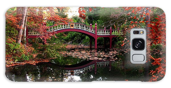 William And Mary College  Crim Dell Bridge Galaxy Case by Jacqueline M Lewis