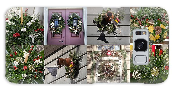 Royal Colony Galaxy Case - Williamsburg Christmas Collage Squared 2 by Teresa Mucha