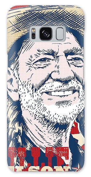 Pop Galaxy Case - Willie Nelson Pop Art by Jim Zahniser