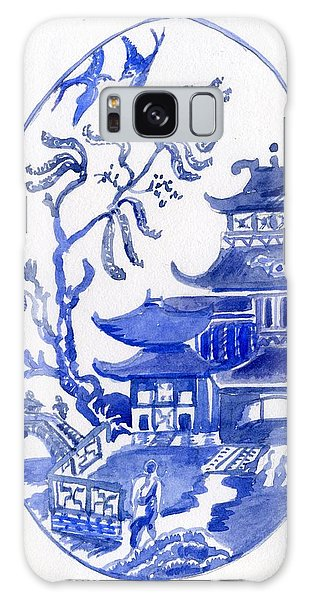 Willow Pattern Egg I Galaxy Case