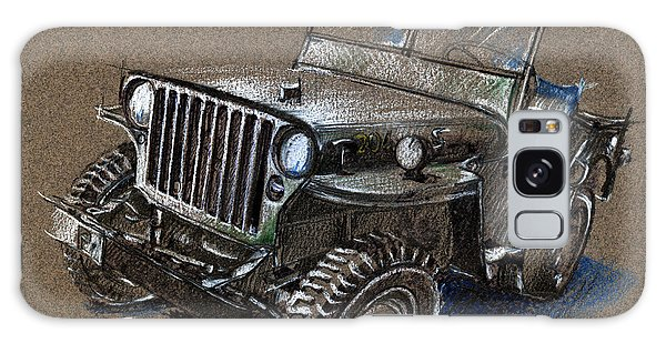 Willys Car Drawing Galaxy Case