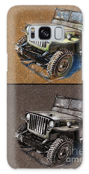 Willys Jeep Mb Car Drawing Galaxy Case