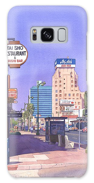 Traffic Signals Galaxy Case - Wilshire Blvd At Mansfield by Mary Helmreich