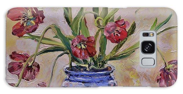 Wilting Tulips Galaxy Case by Donna Tuten
