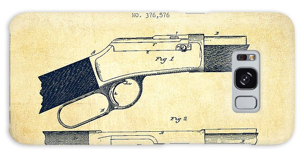Weapons Galaxy Case - Winchester Firearm Patent Drawing From 1888- Vintage by Aged Pixel