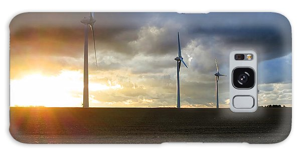 Wind Power Galaxy Case - Wind And Sun by Olivier Le Queinec
