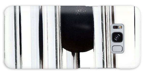 Wind Chime In Black And White Galaxy Case