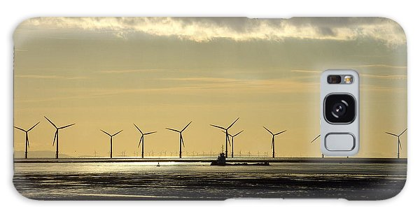 Wind Farm At Sunset Galaxy Case