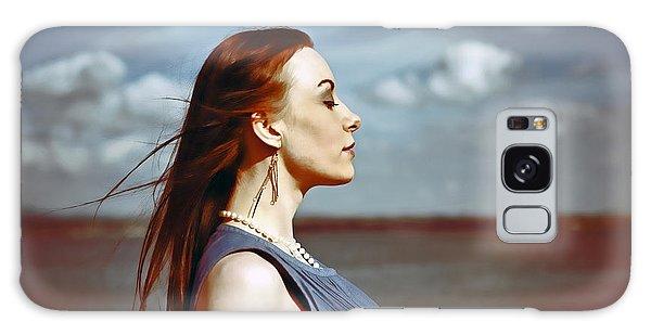 Wind In Her Hair Galaxy Case