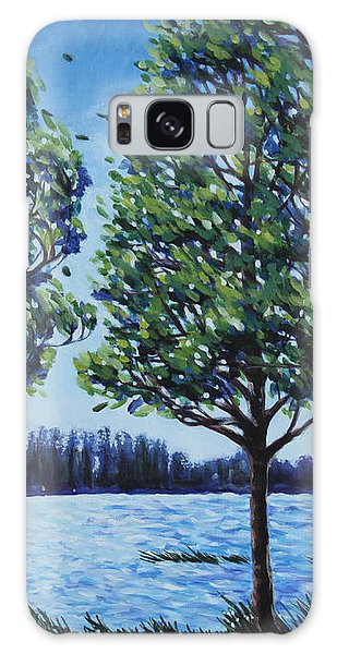 Wind In The Trees Galaxy Case by Penny Birch-Williams
