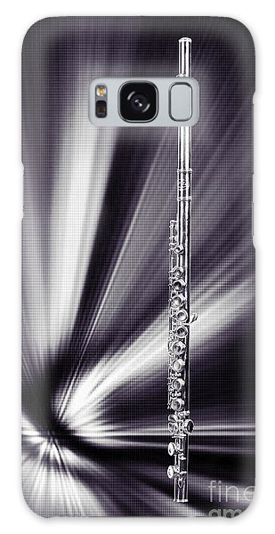 Wind Instrument Music Flute Photograph In Sepia 3301.01 Galaxy Case by M K  Miller