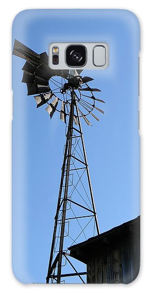 Wind On The Farm Galaxy Case by Jean Goodwin Brooks