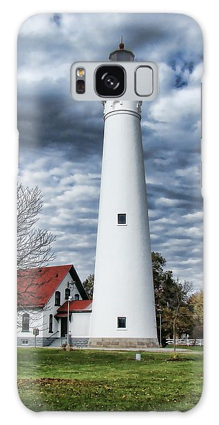 Wind Point Lighthouse Galaxy Case