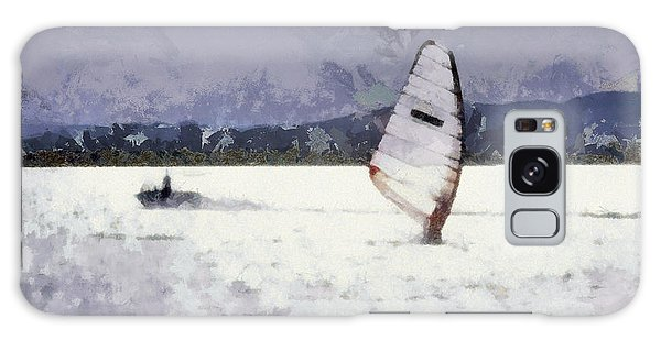 Wind Surfers On The Lake Galaxy Case