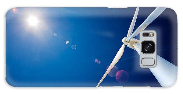Industry Galaxy Case - Wind Turbine And Sun  by Johan Swanepoel