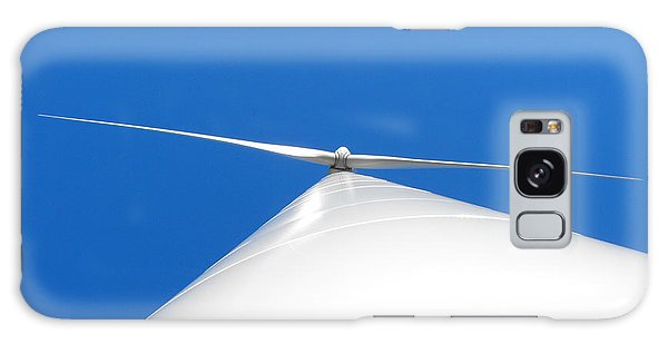 Wind Turbine Blue Sky Galaxy Case