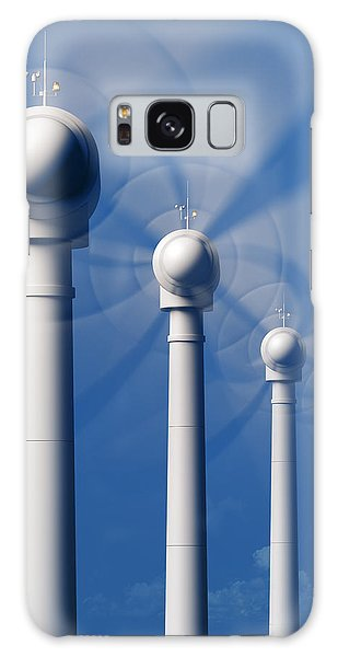 Industry Galaxy Case - Wind Turbines In Motion From The Front by Johan Swanepoel