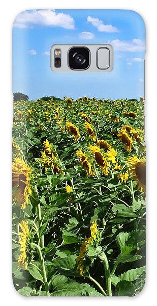 Windblown Sunflowers Galaxy Case by Robert Frederick