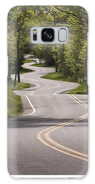 Winding Road Door County Galaxy Case