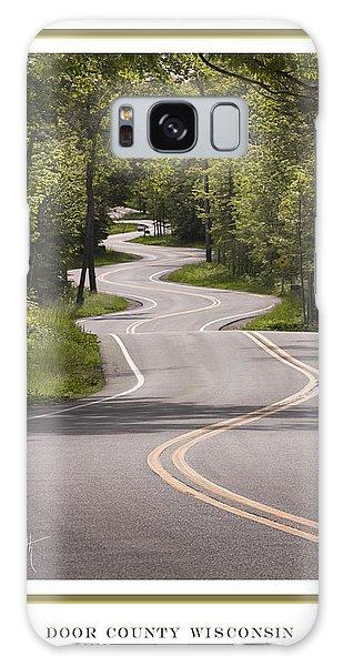 Winding Road Door County Galaxy Case