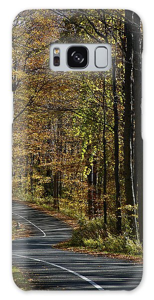 Winding Road In The Woods Galaxy Case
